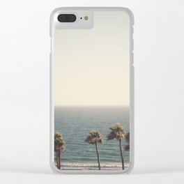Golden Hour over Pacific Coast Highway Clear iPhone Case