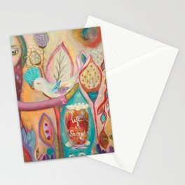 Life is sacred - inspirational art Stationery Cards