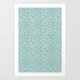 Pebbles in the sea Art Print