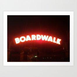 Boardwalk Sign Art Print