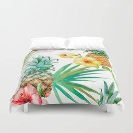 tropical pineapple Duvet Cover