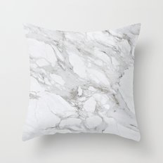 Calacatta Marble Throw Pillow