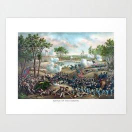 Battle of Cold Harbor -- Civil War Art Print
