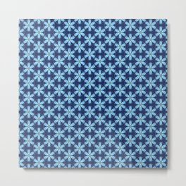 Pastel Blue Flower Metal Print