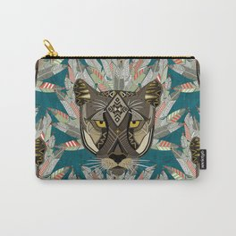 native mountain lion blue Carry-All Pouch