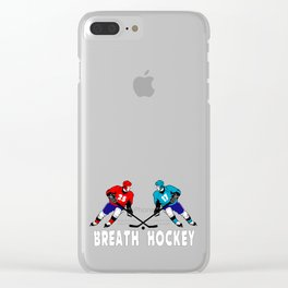 Fighting hockey players Clear iPhone Case