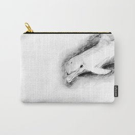 white dolphin Carry-All Pouch