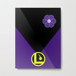 Minimalist Legion of Super-Heroes Poster - Shrinking Violet Metal Print