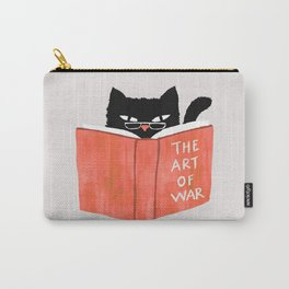 Cat reading book Carry-All Pouch