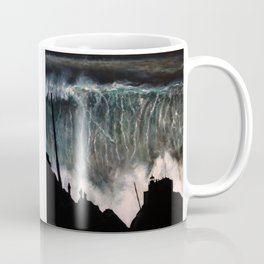 Monsters of Nazare (oil on canvas) Coffee Mug
