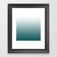 Deep Sea Gradient Framed Art Print