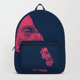MARCUS AURELIUS ANTONINUS AUGUSTUS / prussian blue / vivid red Backpack