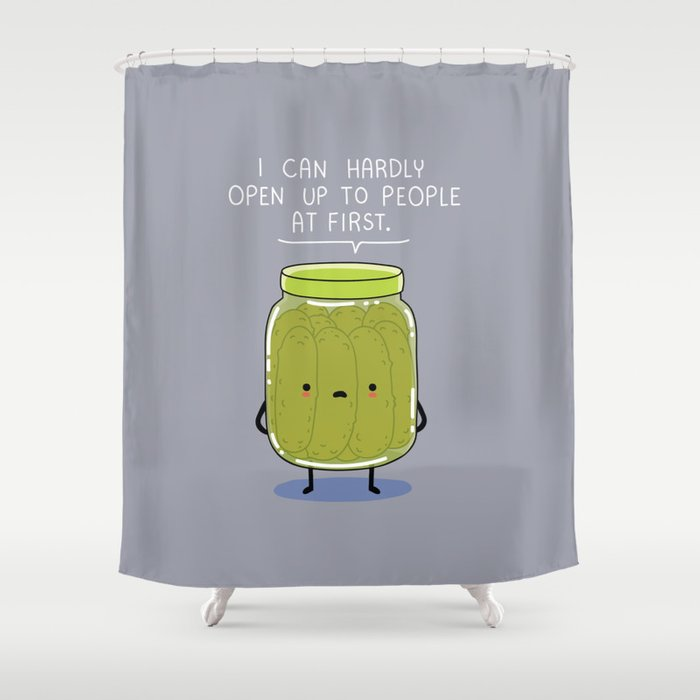 Introverted Jar Shower Curtain