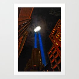 World Trade Tower Lights Art Print