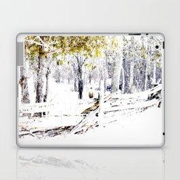 Winter Fence Line | Landscape | Nadia Bonello | Canada Laptop & iPad Skin