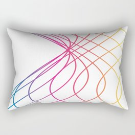 RAINBOW COLORED LINES Abstract Art Rectangular Pillow