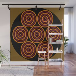 Aboriginal Cycle Style Painting Wall Mural