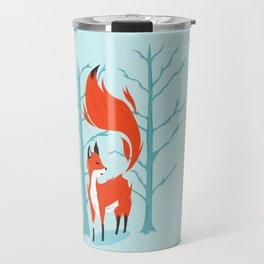 Winter Fox Travel Mug