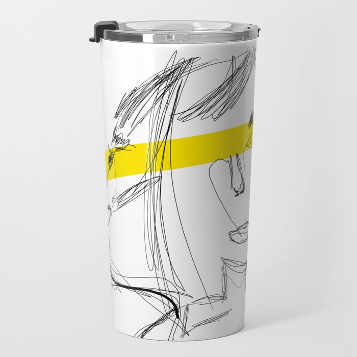 3 Figure YELLOW Travel Mug