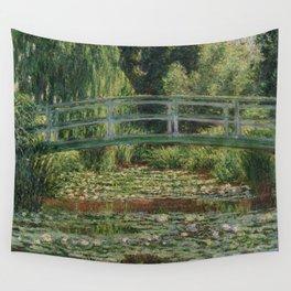 Claude Monet - Japanese Footbridge Wall Tapestry
