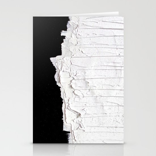 Black, White & White Stationery Cards