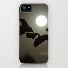 By the light of the full moon iPhone Case