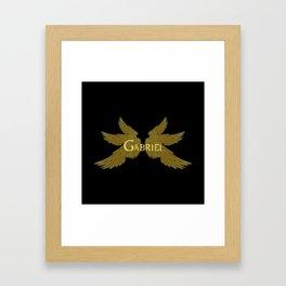 Archangel Gabriel Wings Framed Art Print