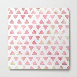 Watercolored Triangle Pattern Metal Print