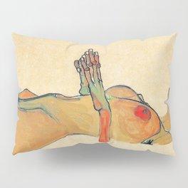 Egon Schiele - Orange knuckles and nipples (new color edit) Pillow Sham