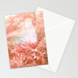 Tropical Coral Island - Blush Botanical Pattern Stationery Cards