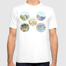 Campsite Selection Mens Fitted Tee MEDIUM White