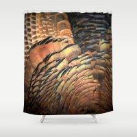 turkey Shower Curtains featuring Turkey by Nichole B.