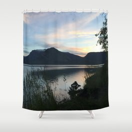 Tetons at Dawn Shower Curtain