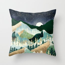Spring Night Vista Throw Pillow