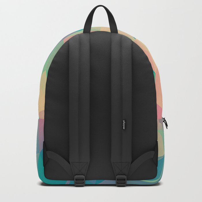 Fractured, Colorful Triangles Geometric Shapes Backpack