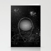 astronaut Stationery Cards featuring Astronaut  by Becky Hayes