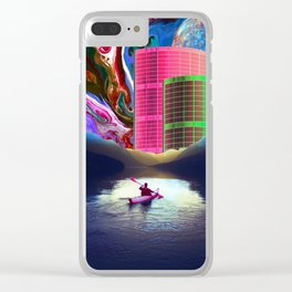 """""""Follow the Lights, They Lead to Something"""" Clear iPhone Case"""
