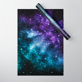 Purple Teal Galaxy Nebula Dream #1 #decor #art #society6 Wrapping Paper