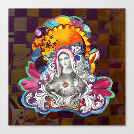 Imaculado Coração de Maria (Immaculate Heart)  Canvas Print