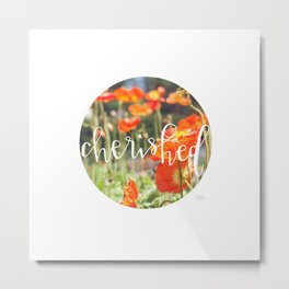 Cherished - Botanical  |  The Dot Collection Metal Print