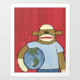 Sock Monkey 109 Art Print