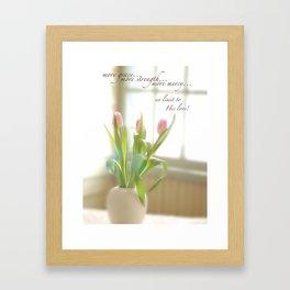 Three Tulips Framed Art Print