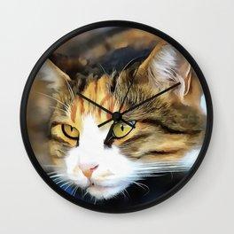 Contented Cat Wall Clock
