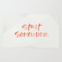 start somewhere Rug