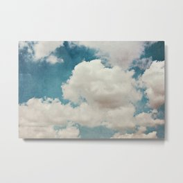 January Clouds Metal Print