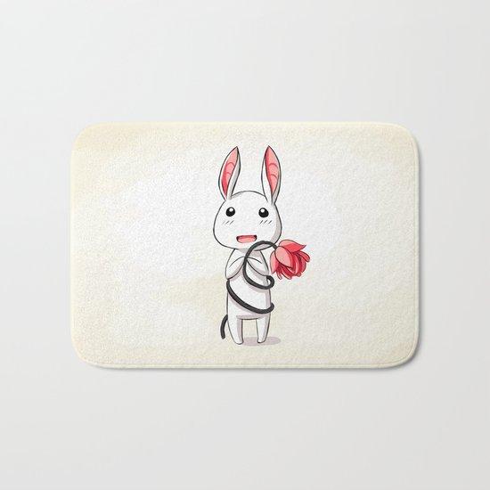 Bunny Flower Bath Mat