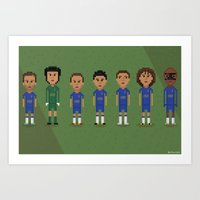 chelsea fc Art Prints featuring Chelsea FC 2013 by 8bit Football