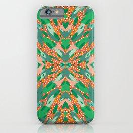 Abstract Animal Print Kaleidoscope Tiles iPhone Case