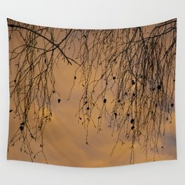 sunny branches and clouds Wall Tapestry