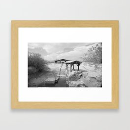 Where Jesus was Baptized Framed Art Print